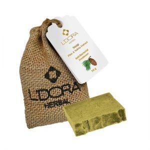 صابون گیاهی حاوی عصاره کاج وگیاه مریمگلی لدورا هربال 70 گرمی L'DORA Herbal Soap with Pine Extract and Salvia