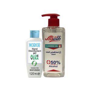 پکیج ژل ضد عفونی کننده دست بس و موریر hand disinfectant gel aloevera
