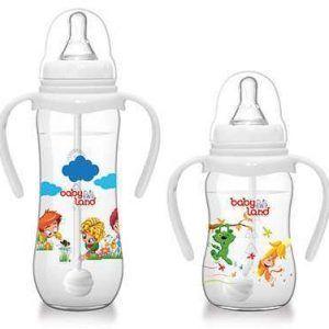 شیر خوری دسته دار ضد قولنج بی بی لند Baby land Automatic Classic baby bottle