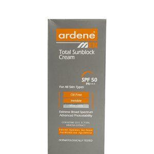 کرم ضد آفتاب فاقد چربی SPF30 آردن مناسب آقایان سلام دارو